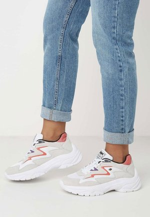 GALAXY - Sneakers - grey/white/coral