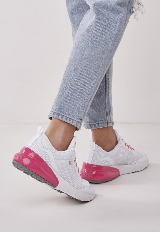 VORTEX - Sneakers - white/fuchsia