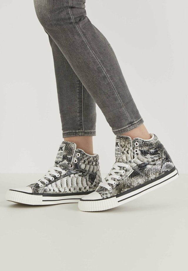 DEE - High-top trainers - grey snake
