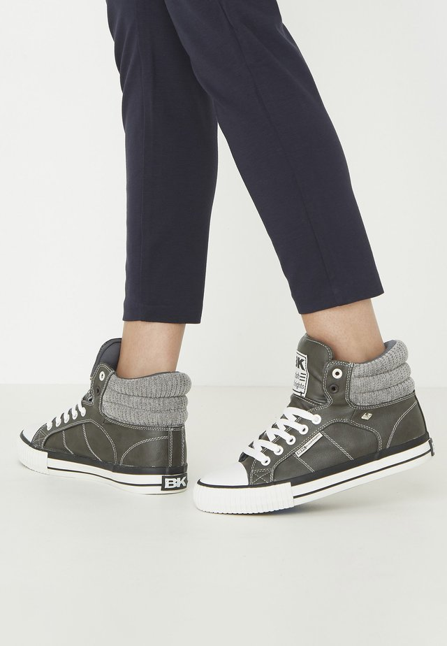 ATOLL - High-top trainers - dk grey/lt grey