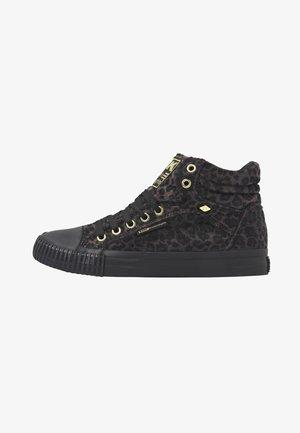 DEE - Zapatillas altas - dk grey leopard/gold/black
