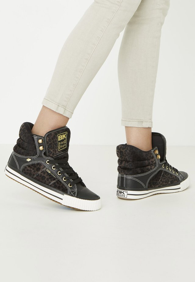ATOLL - High-top trainers - dk grey leopard/black