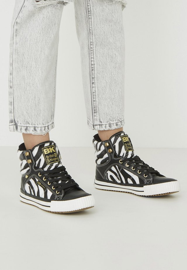 ATOLL - Sneakersy wysokie - zebra/black