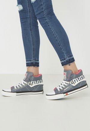 ROCO - Zapatillas altas - dk grey/fuchsia