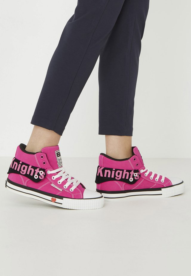 ROCO - High-top trainers - candy pink/black