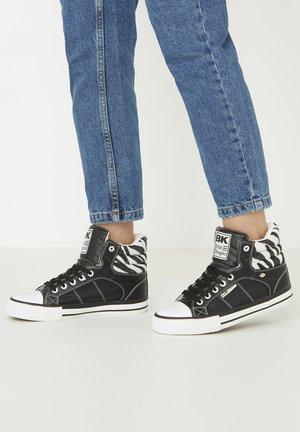 SNEAKER ATOLL - Zapatillas altas - black/zebra