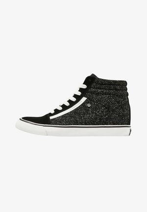 MACK MID - Höga sneakers - black/grey/white