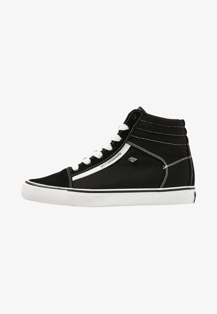 British Knights - MACK  - Zapatillas altas - black/white