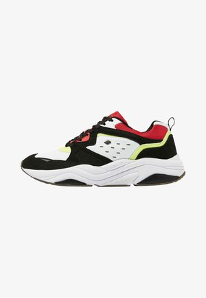 CHUNKY - Sneakers laag - black/white/green/red