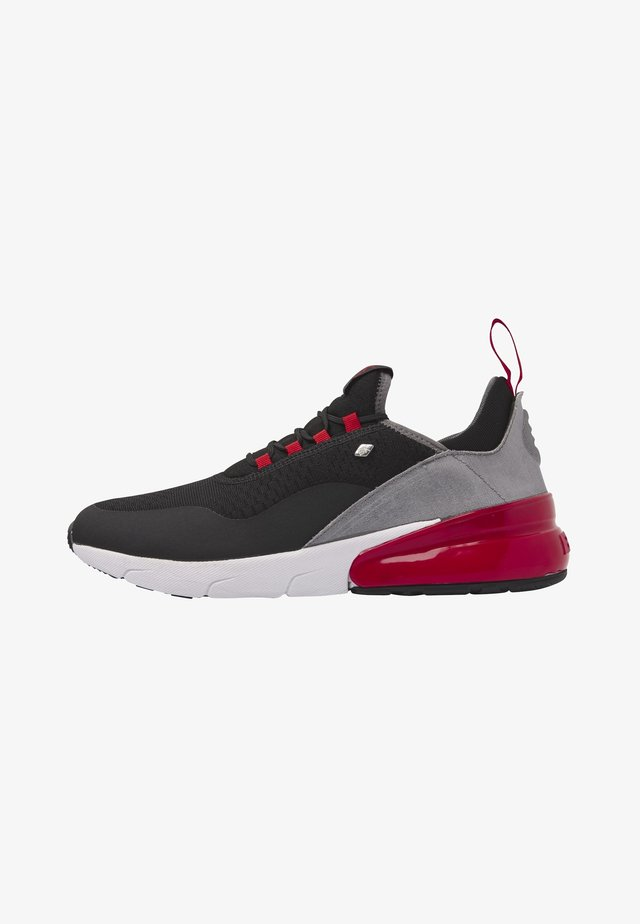 VALEN - Sneakers - black/red/grey