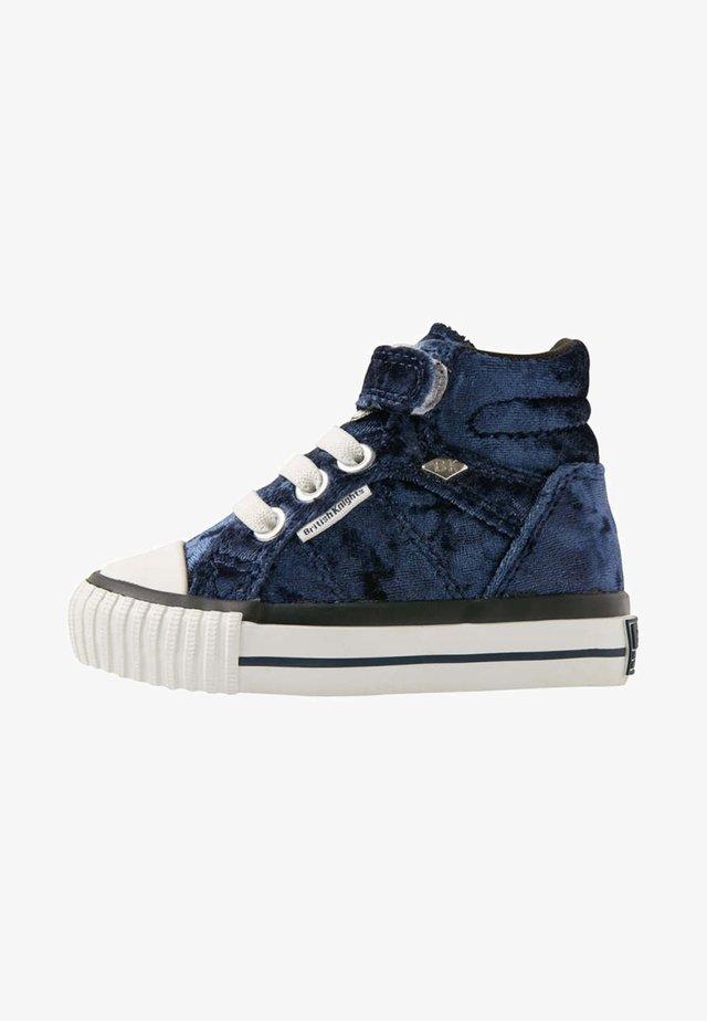 Baby shoes - dark blue / white