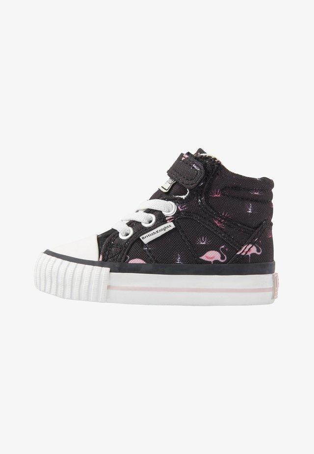 DEE - Lær-at-gå-sko - black/pink