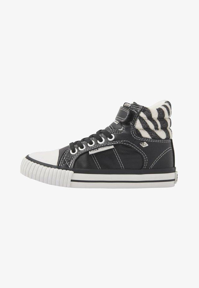 ATOLL - Korkeavartiset tennarit - black/zebra