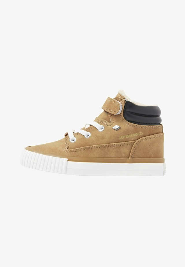 BUCK - High-top trainers - cognac/black
