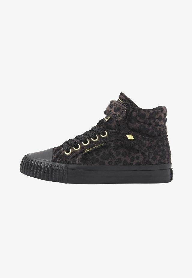 DEE - High-top trainers - dk grey leopard/gold/black