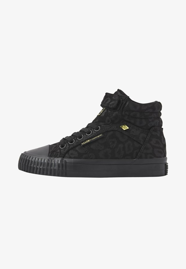 DEE - High-top trainers - black leopard/gold/black