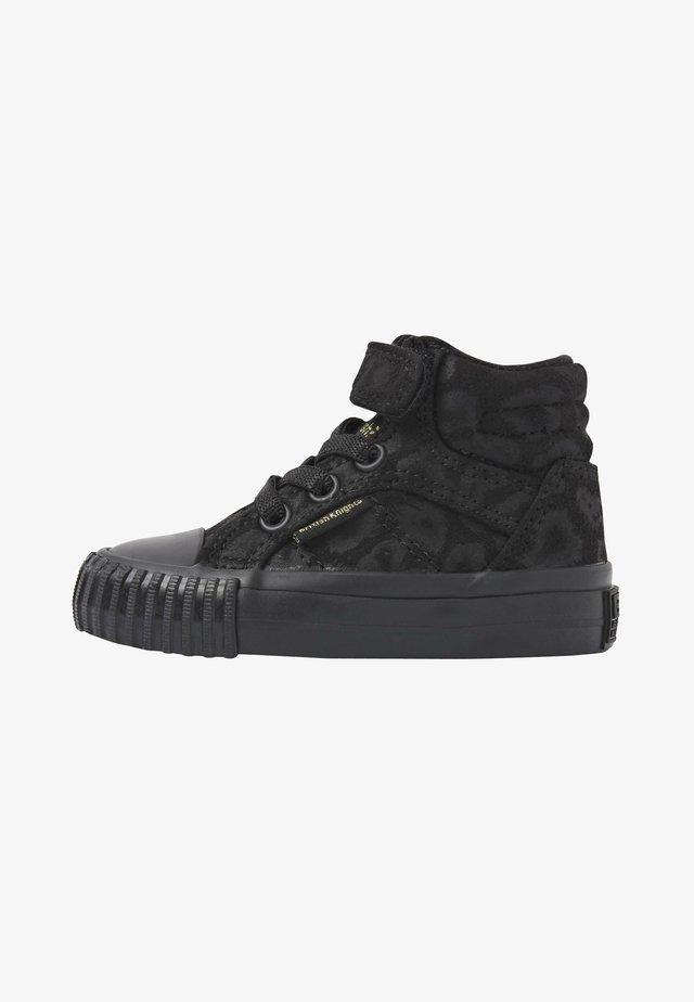 Sneakers hoog - black leopard/gold/black