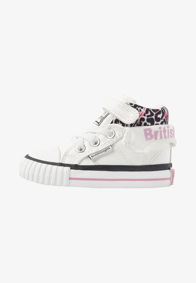 ROCO - Sneakers high - white/pink