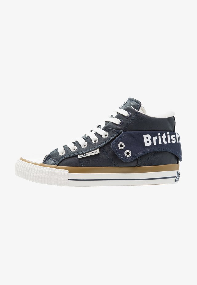 ROCO - High-top trainers - navy/white