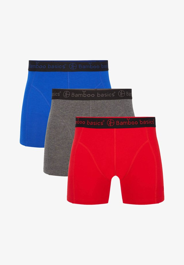 3 PACK - Pants - red grey blue