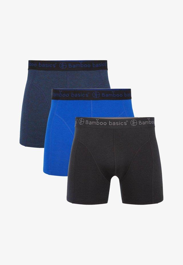 3 PACK - Panties - jeans melange navy black
