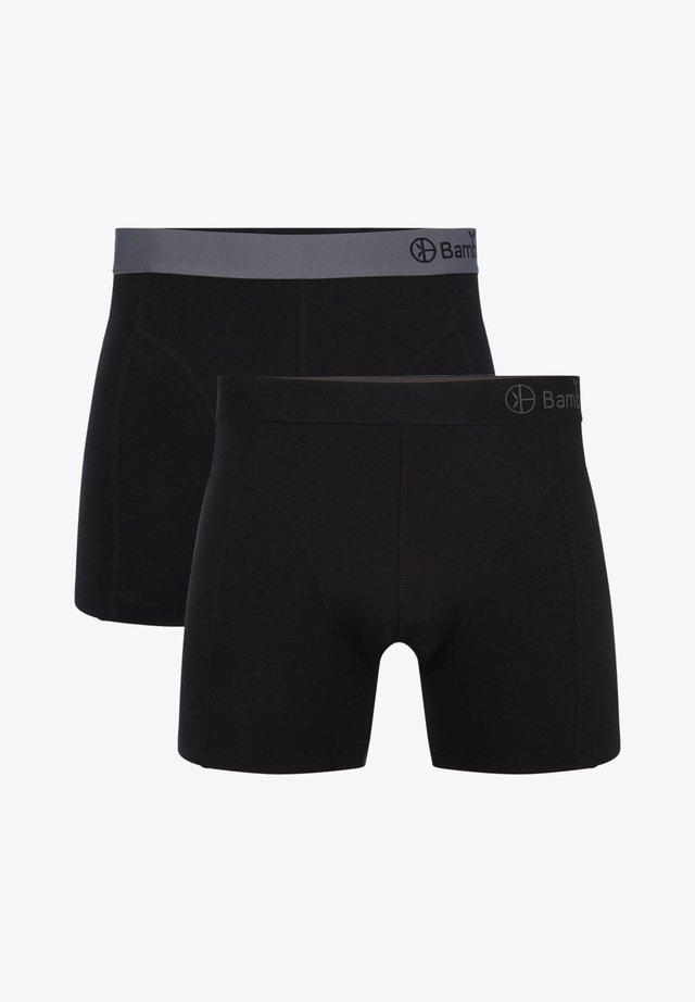 2 PACK BASICS  - Panties - grey black