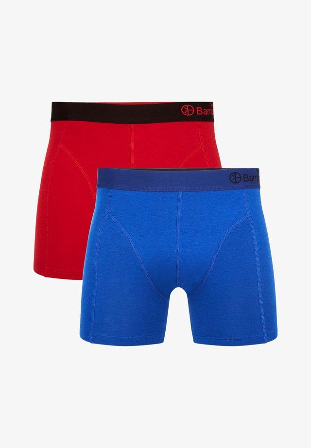 2 PACK BASICS  - Onderbroeken - red blue