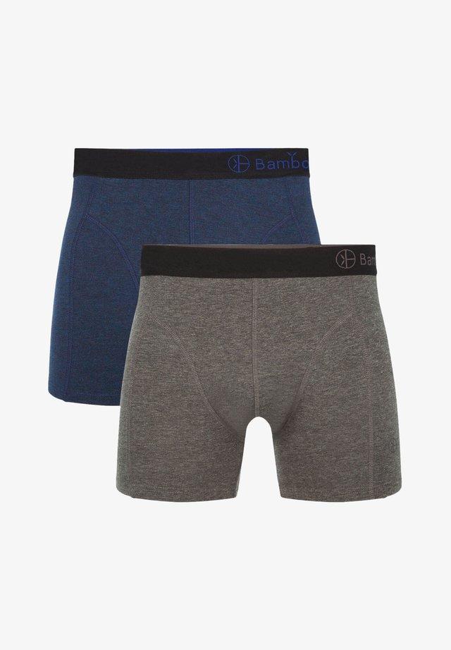 2 PACK BASICS  - Panties - navy gray