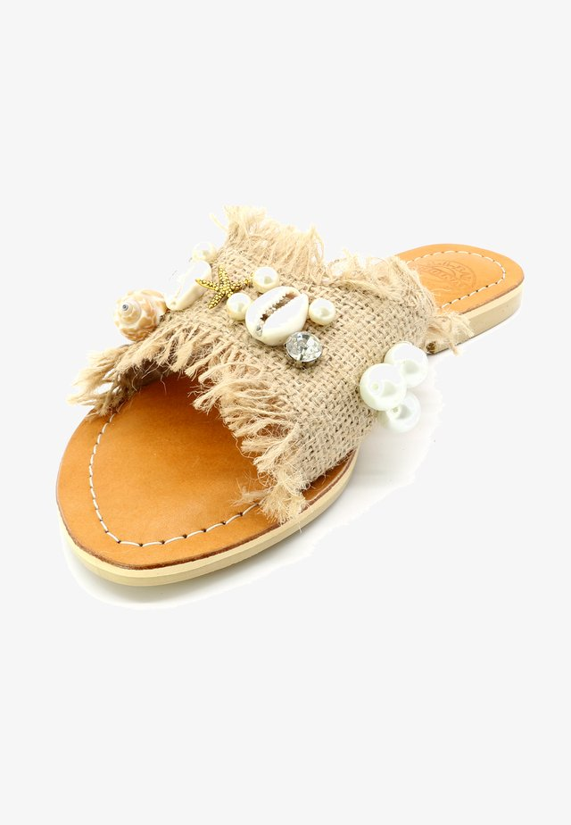 SHELL STAR - Mules - beige