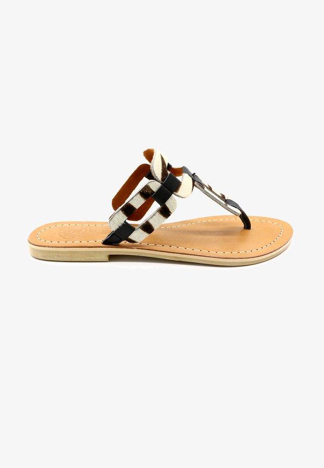 PACET ZEBRA - T-bar sandals - black