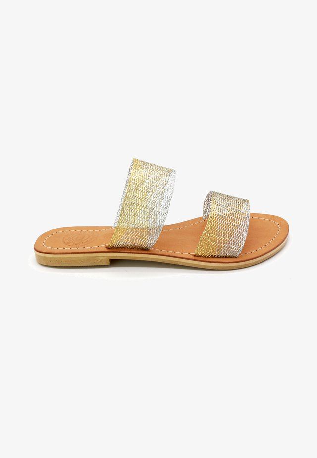 PLUMBON  - Mules - silver, gold