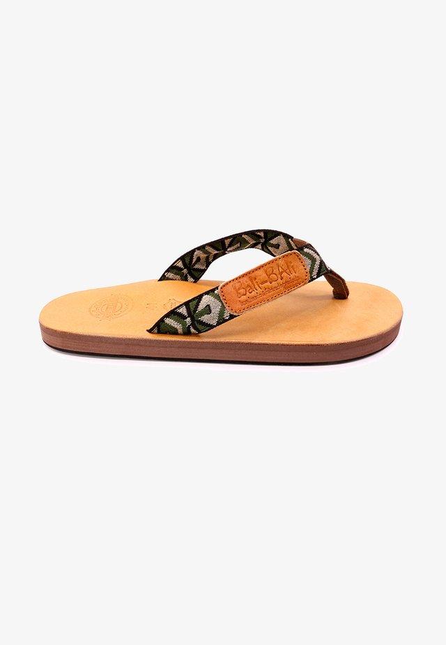 SUNGGAL  - T-bar sandals - olive, black