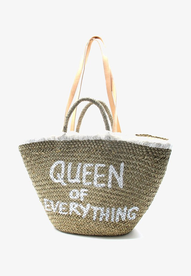 QUEEN OF EVERYTHING - Tote bag - white
