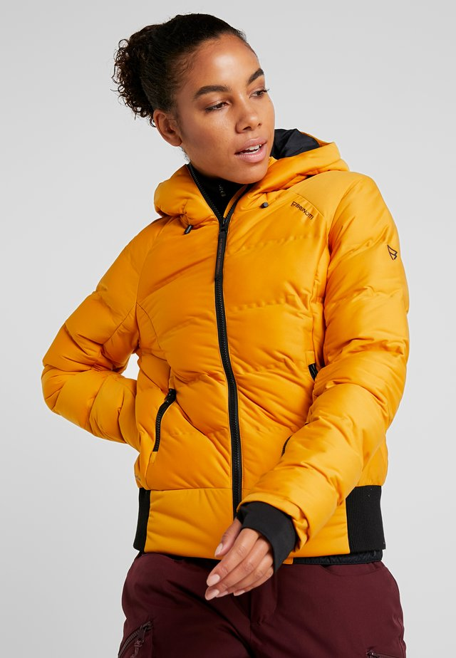 FIRECROWN WOMEN JACKET - Snowboardjacke - autumn yellow
