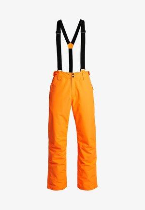 FOOTSTRAP MEN SNOWPANTS - Täckbyxor - fluo orange
