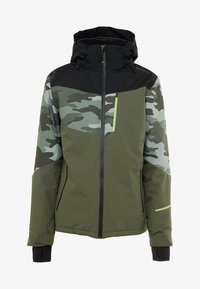 Brunotti - DAKOTO MENS SNOWJACKET - Snowboardjas - beetle green - 10
