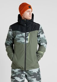 Brunotti - DAKOTO MENS SNOWJACKET - Snowboardjas - beetle green - 0