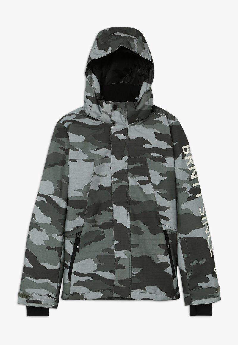 Brunotti - GULLIES BOYS SNOW JACKET - Snowboard jacket - beetle green
