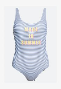 Banana Moon - BELAIR SUNSTRIPE PIECE NAGEUR - Swimsuit - blue/white - 3