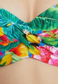 Banana Moon - SAKATA TROPICOO SGORGE BANDEAU CUP - Bikini top - bleu - 5