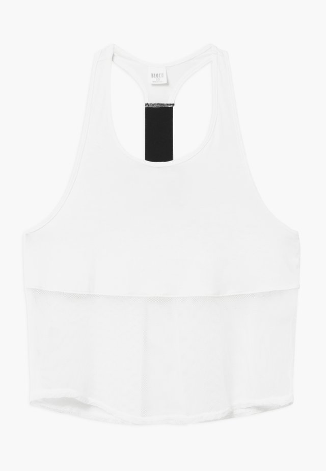 GIRLS CROP TEE - Top - white
