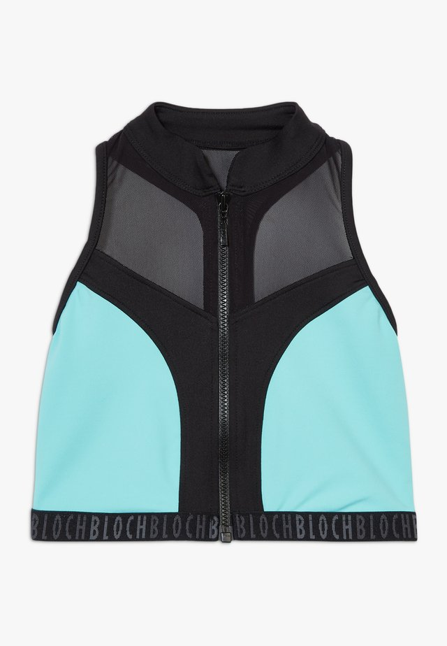 GIRLS ZIP UP - Sports bra - blue radiance