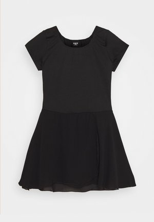 BALLET SHORT SLEEVE DRESS PRISHA - Jerseyjurk - black
