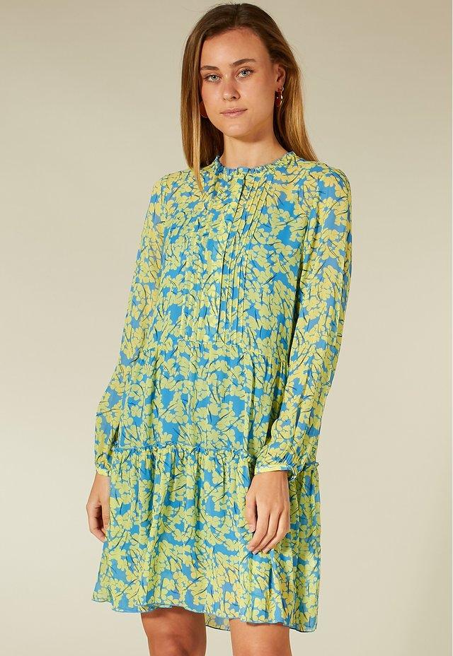 Korte jurk - yellow blossom print