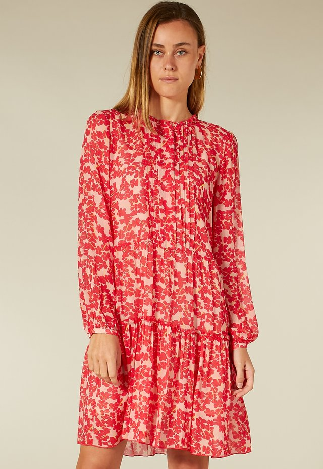 Korte jurk - pink blossom print