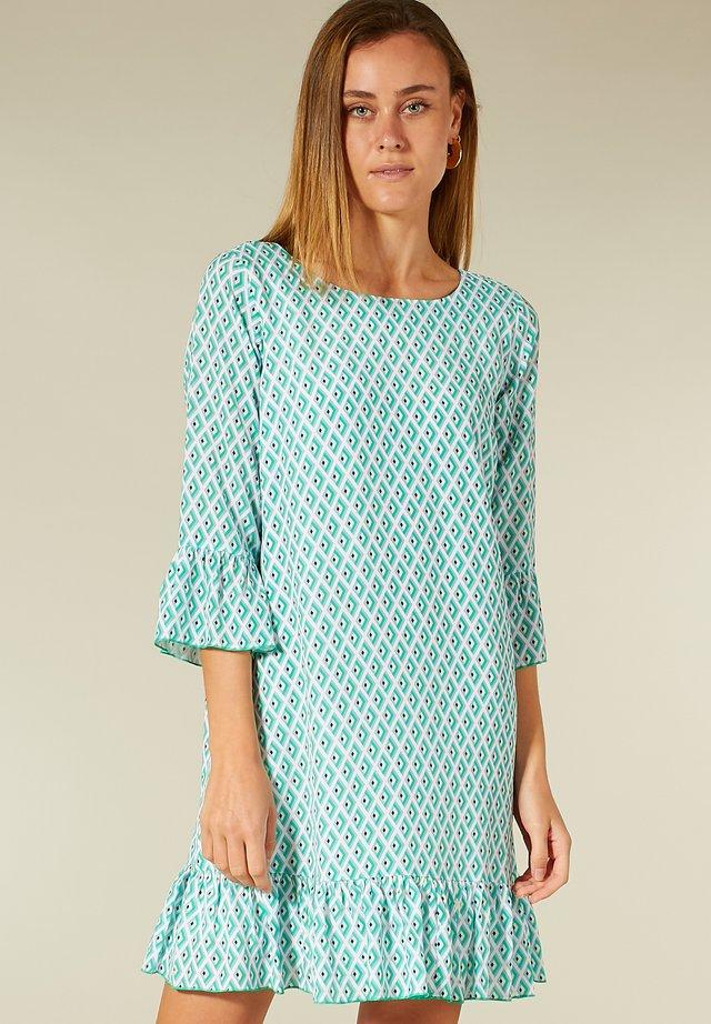 ALLOVER-MUSTER - Korte jurk - green tile print
