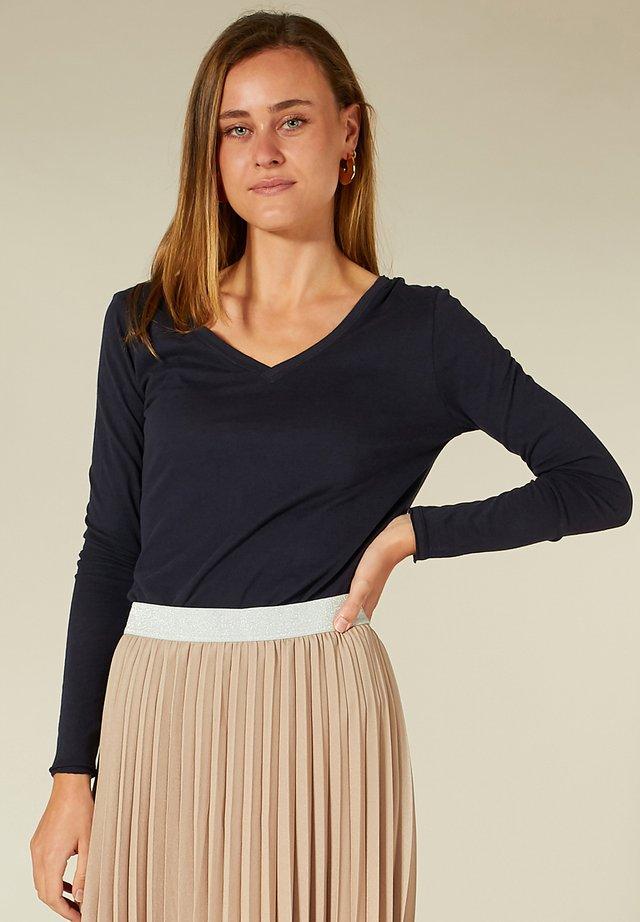 SHIRT - T-shirt à manches longues - navy blue