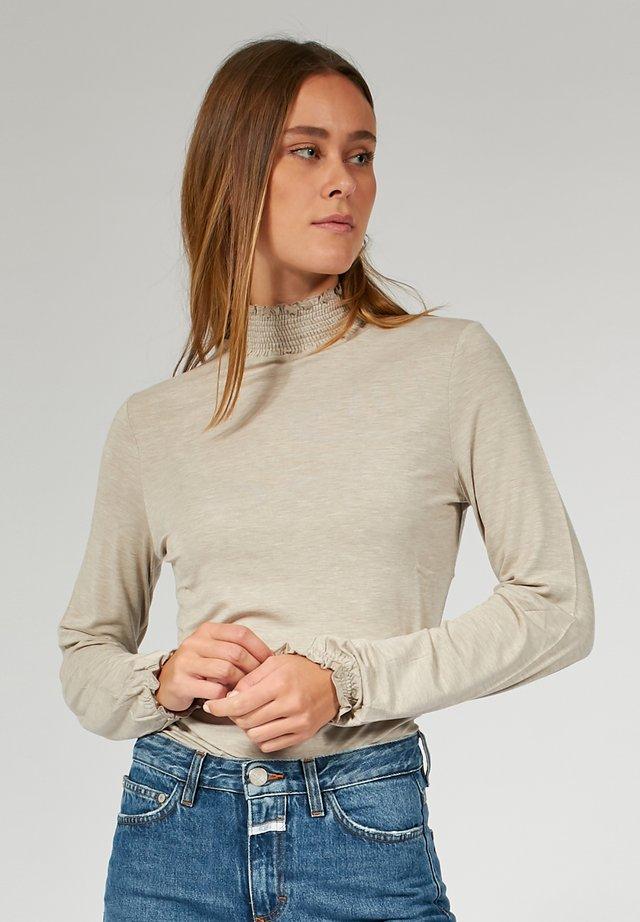 LONGSLEEVE - T-shirt à manches longues - sand mel