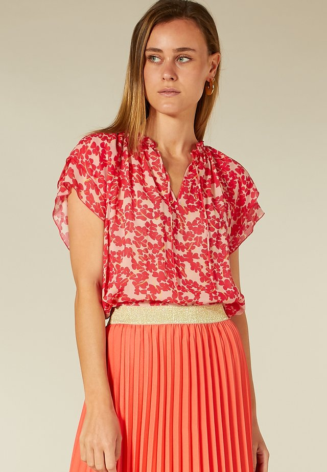 Blouse - pink blossom print