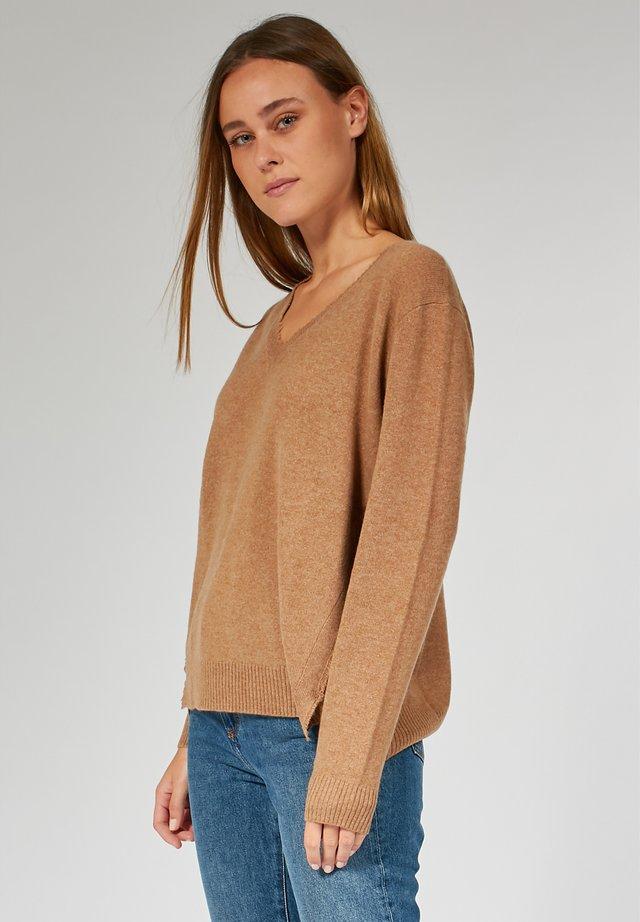 BOXY  - Strickpullover - brown